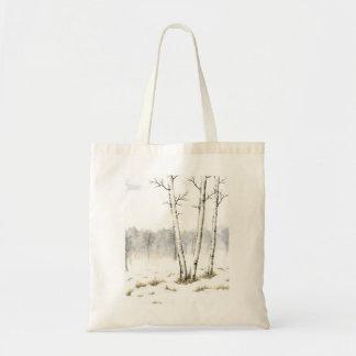 Bolso del paisaje del invierno bolsa de mano