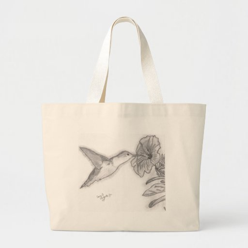 Bolso del pájaro del tarareo bolsa tela grande