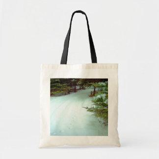 Bolso del paseo de un invierno bolsas lienzo