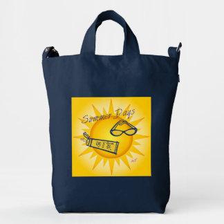 Bolso del pato de BAGGU del añil de la sol de los Bolsa De Lona Duck