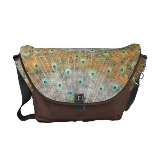 bolso del pavo real bolsa de mensajería