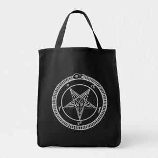 bolso del Pentagram del baphomet Bolsa Tela Para La Compra