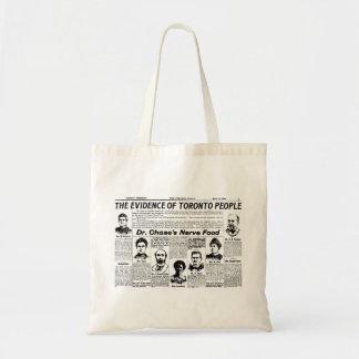 Bolso del periódico del vintage de la gente de bolsa tela barata