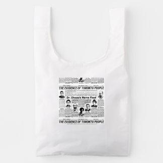 Bolso del periódico del vintage de la gente de bolsa reutilizable