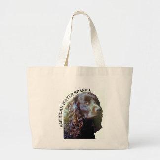 Bolso del perro de aguas de agua americana bolsa tela grande