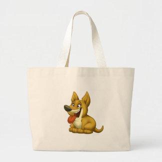 Bolso del perro (perro sombreado) bolsas lienzo