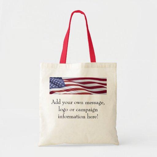 Bolso del personalizable de la bandera americana bolsa de mano