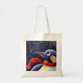 Bolso del pingüino del navidad bolsa tela barata