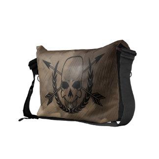 Bolso del pirata - cráneo y bandera pirata bolsas de mensajeria