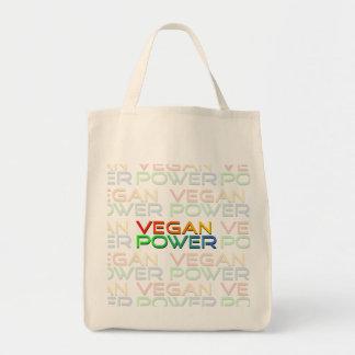Bolso del poder del vegano bolsa tela para la compra
