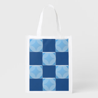 Bolso del poliéster - adorno azul de la teja bolsa reutilizable