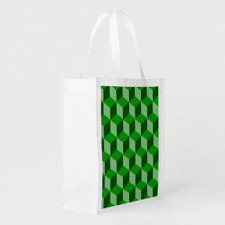 Bolso del poliéster - bloques huecos sombreados bolsas para la compra