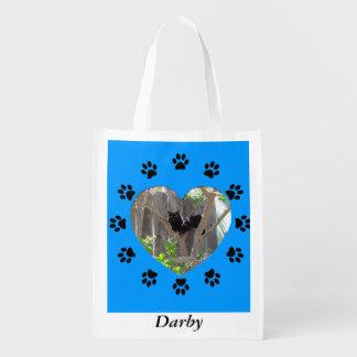 Bolso del poliéster - foto enmarcada del mascota bolsa de la compra