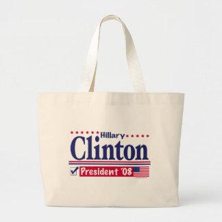 Bolso del presidente '08 de Hillary Clinton Bolsa Tela Grande