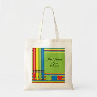 Bolso del profesor de colores y de formas bolsa tela barata