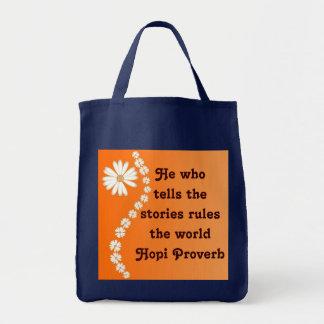 Bolso del proverbio del Hopi Bolsa Lienzo