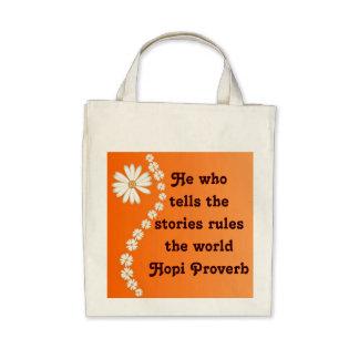 Bolso del proverbio del Hopi Bolsas