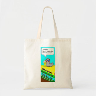 Bolso del ratón de biblioteca bolsa tela barata