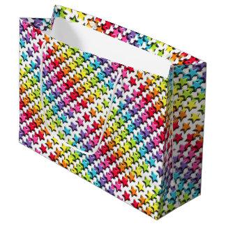 Bolso del regalo - arco iris todas las estrellas bolsa de regalo grande