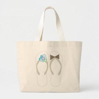 bolso del regalo de boda de los flips-flopes de la bolsa