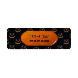 Bolso del regalo de Halloween del truco o de la Etiquetas De Remite