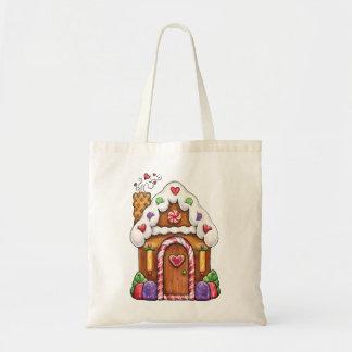 Bolso del regalo de la casa de pan de jengibre bolsa