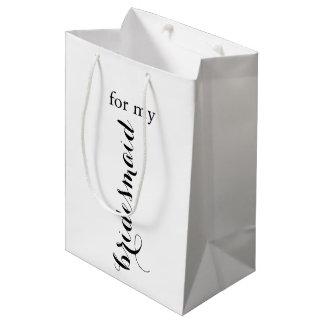 Bolso del regalo de la dama de honor bolsa de regalo mediana