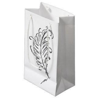 Bolso del regalo de la pluma de canilla bolsa de regalo pequeña