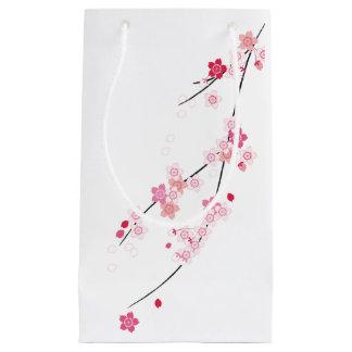 Bolso del regalo de las flores de cerezo bolsa de regalo pequeña