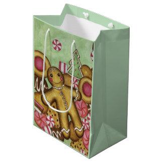 Bolso del regalo de las galletas del navidad de la bolsa de regalo mediana