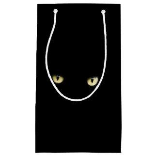 Bolso del regalo de los ojos de gato negro de bolsa de regalo pequeña