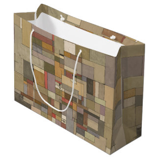 Bolso del regalo del arte abstracto de Stata de la Bolsa De Regalo Grande