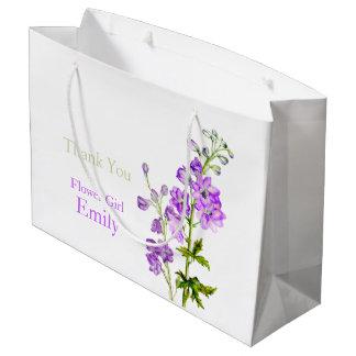 Bolso del regalo del favor del florista del boda bolsa de regalo grande