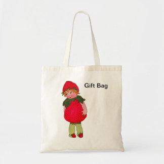 Bolso del regalo del niño de la fresa del vintage bolsas lienzo