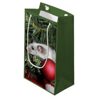 Bolso del regalo del ratón del navidad: Ratón Bolsa De Regalo Pequeña