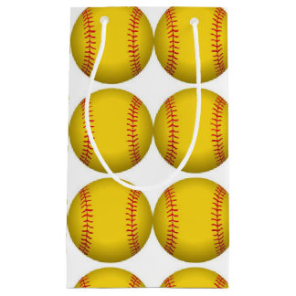 Bolso del regalo del softball bolsa de regalo pequeña