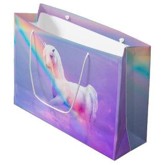 Bolso del regalo del unicornio - grande, brillante bolsa de regalo grande