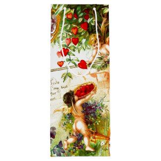 Bolso del regalo del VINO del amor del corazón del Bolsa De Regalo Para Vino