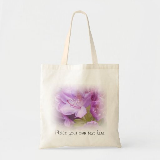 Bolso del rododendro de la primavera bolsa tela barata