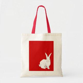 Bolso del rojo del conejo bolsa de mano