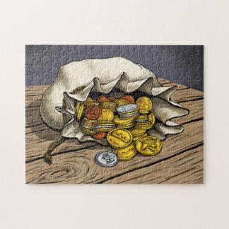 Bolso del rompecabezas de las monedas