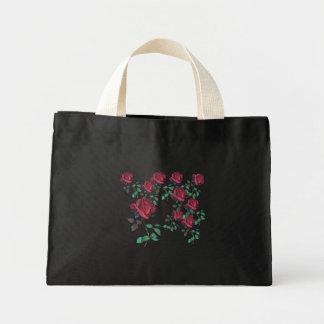 Bolso del rosa rojo bolsa de tela pequeña