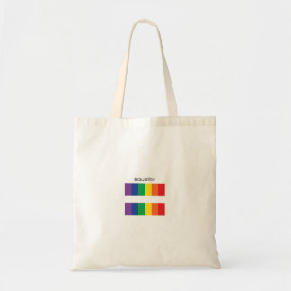 Bolso del símbolo de la igualdad de la bandera del bolsa tela barata
