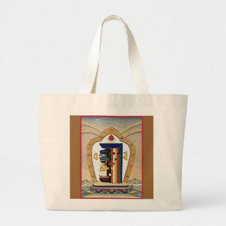 Bolso del símbolo del mantra de Kalachakra Bolsa Tela Grande