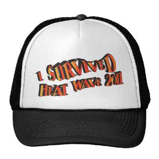 Bolso del superviviente 2011 de la ola de calor gorras