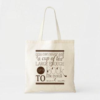 Bolso del té y de libros bolsa tela barata