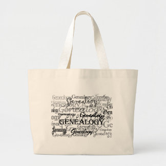 Bolso del texto de la genealogía bolsas lienzo