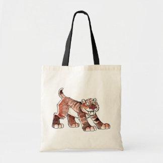 Bolso del tigre de Sabretooth Bolsa Lienzo