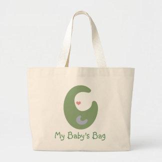 Bolso del _Tote del bolso de mi bebé (verde salvia Bolsa Tela Grande