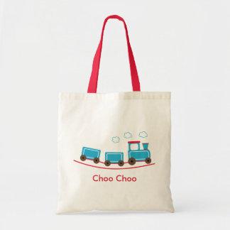 Bolso del tote o del regalo del tren de Choo Choo Bolsa Tela Barata